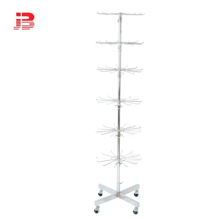 6 Tiers Metal Display Stand Rotating Display Stand with Hook