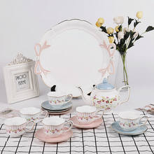 Fashion design pink & blue turkish coffee and tea sets with kettle
