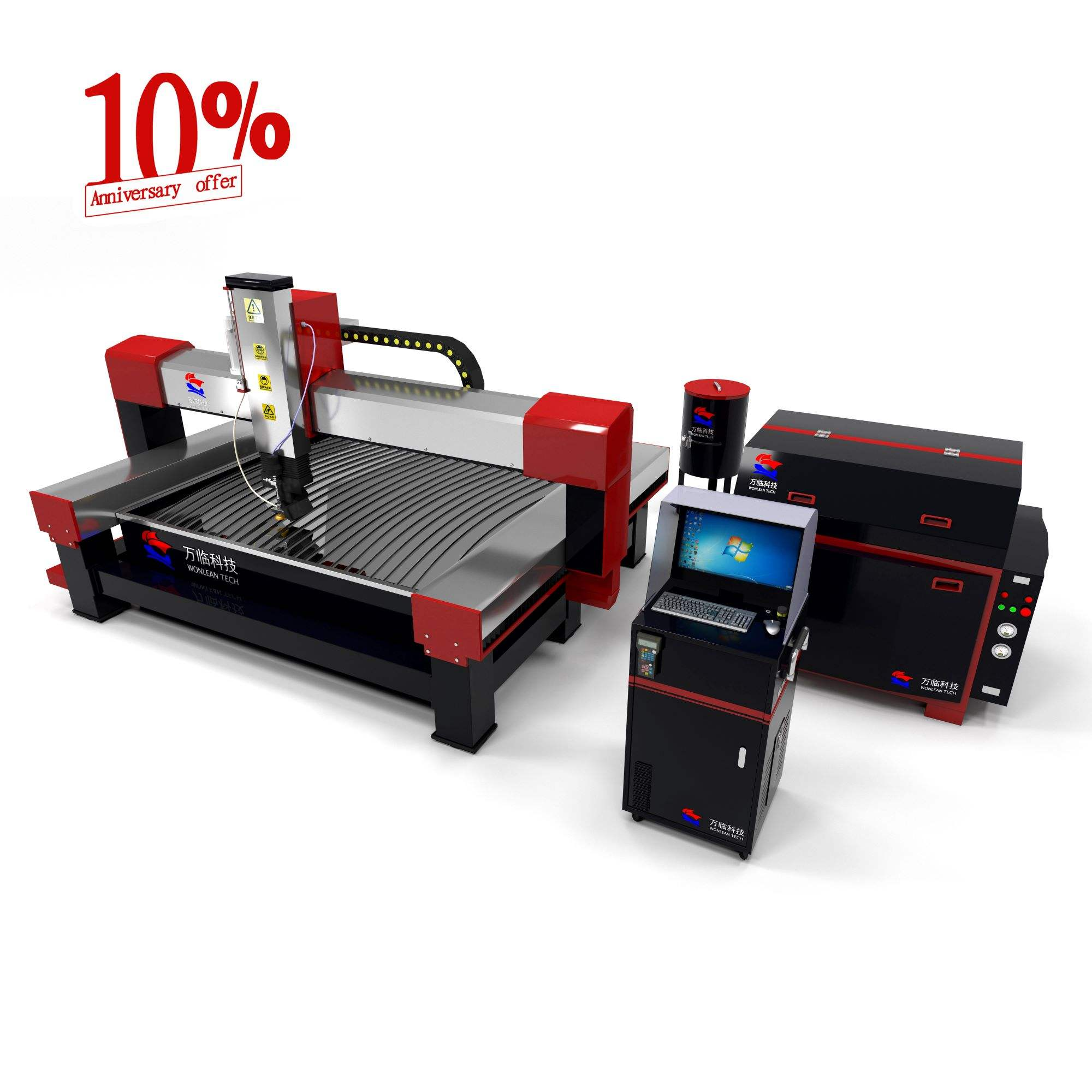 10th anniversary specials,the all series cnc metal processing waterjet machine price down 10%