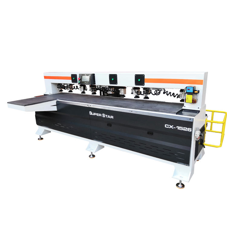 Jinan factory double heads cnc wood side drilling machine for wooden door slots