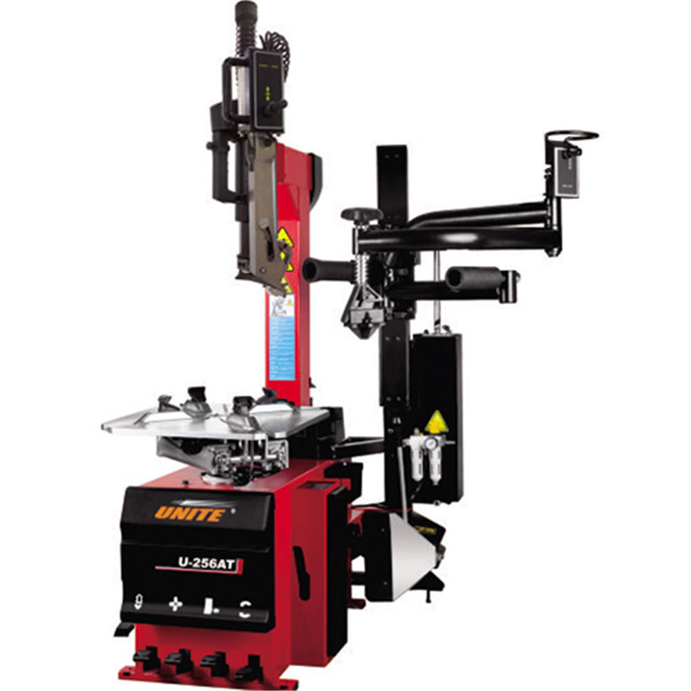 Unite tire changers U-256AT tire changer machine uppdated with quick air booster tyre changer motor