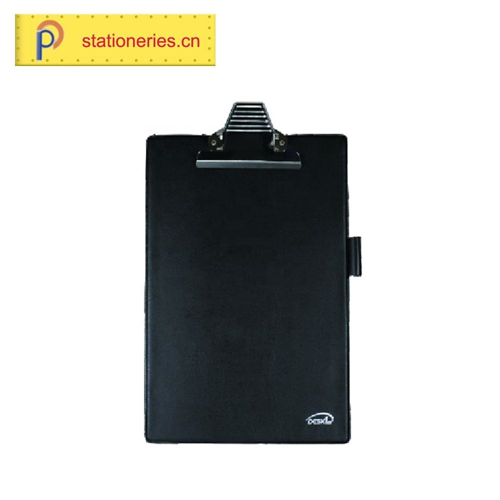 Natural Multi-function black PVC ClipBoard