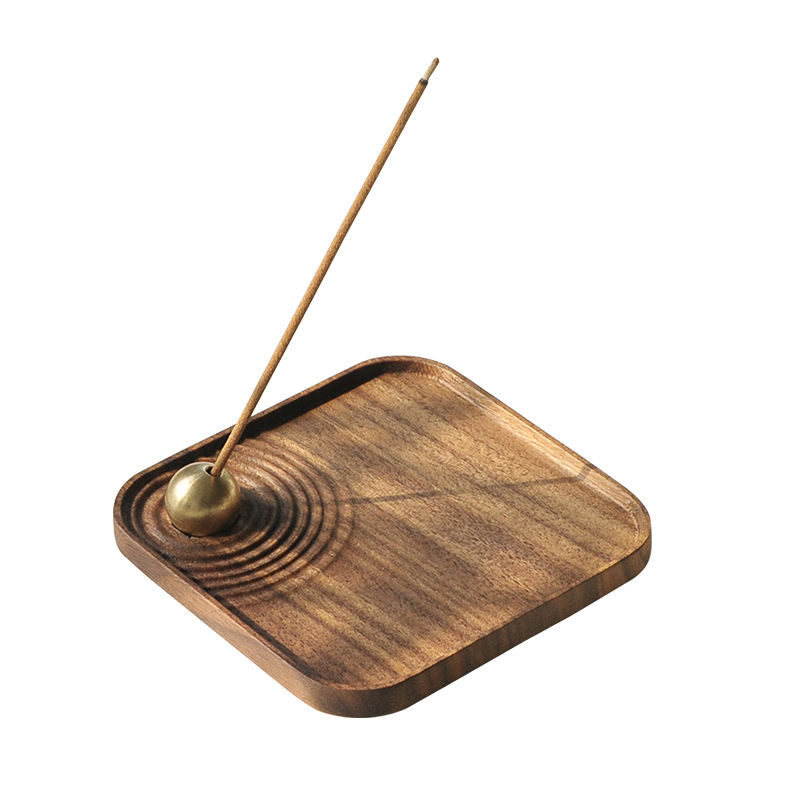 Wholesale Square Arabic Mubkhar Bakhoor Incense Holder Burners With Rotating Metal Ball