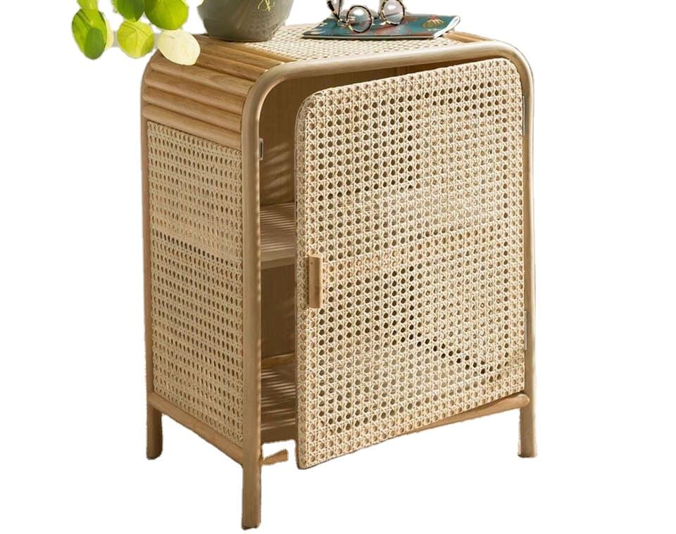Handmade high quality rattan wardrobe cabinet best look from Vietnam