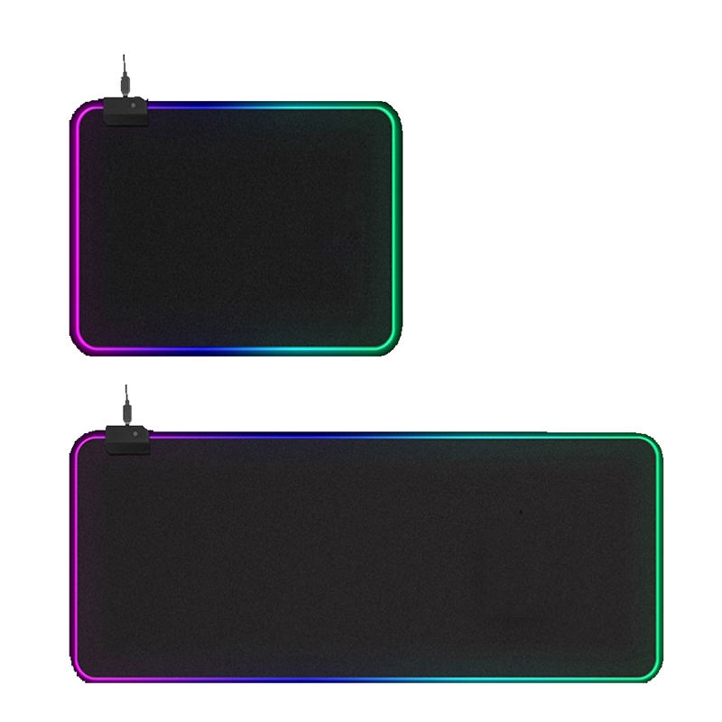 New Popular LED Wired RGB Waterproof Mouse Pad Colorful Lights Custom Anti Slip Game Mouse Keyboard Pad