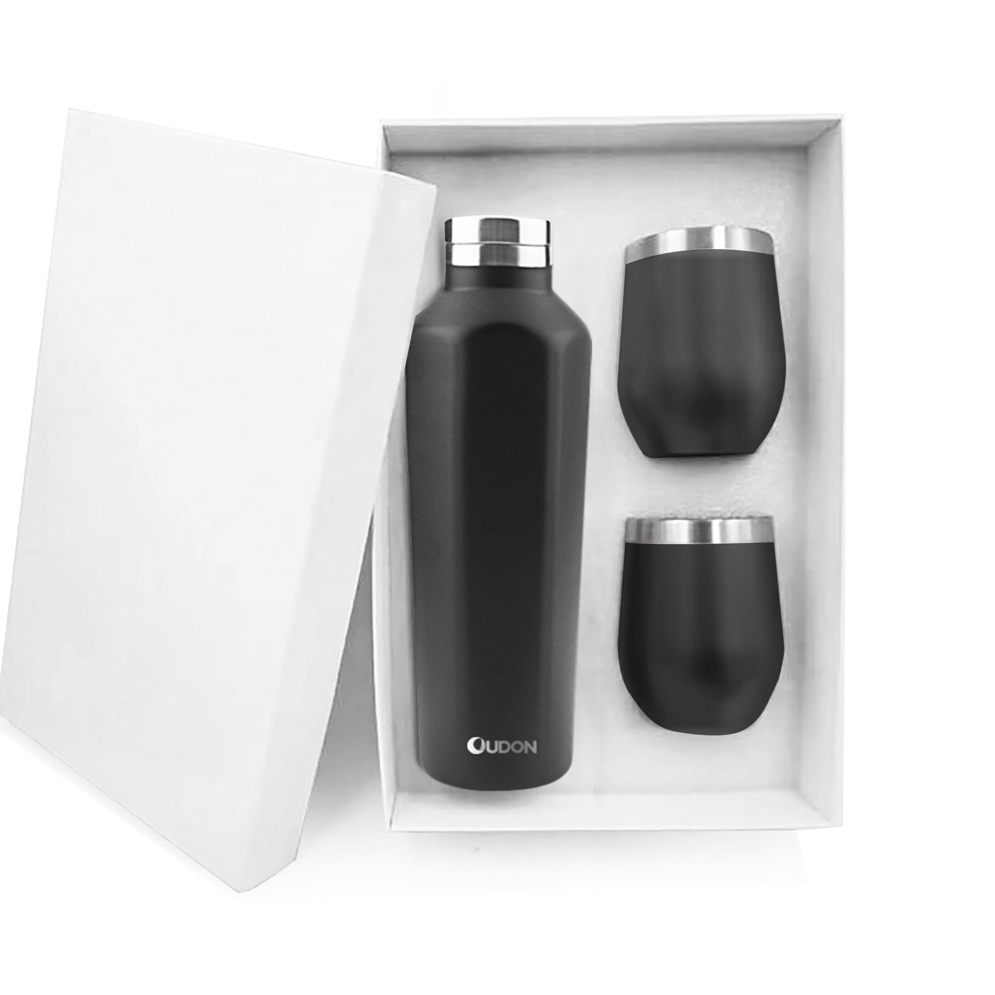 18/8 Insulated Wine Bottle 2 Wine Tumblers Set Double wall stainless steel mugs with straw