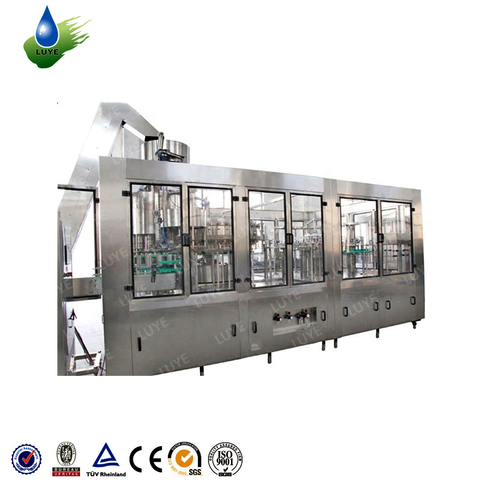 Cheap linear beverage production line semi automatic labeling machine counter pressure bottle fillers