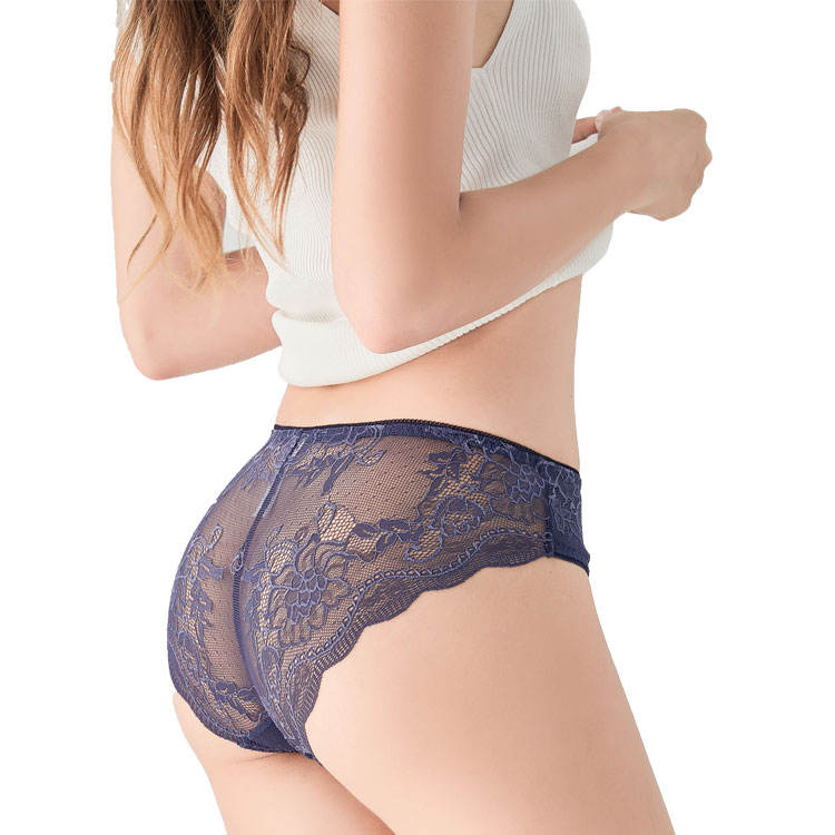 BEIZHI 12 Hours Custom Design Ladies Low Wise Sexy Underwear Women Sexy Seamless Lace Transparent Lady Panties
