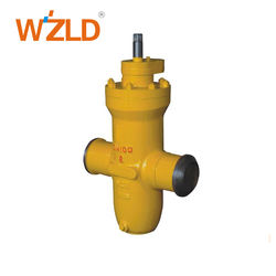 WZLD API Standard Custom DN100 4 Inch Butt Weld Gas Gate Valve With CAD Drawings