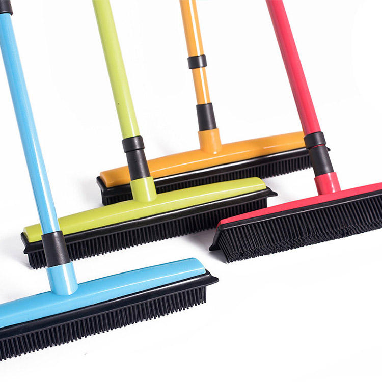 Pet House Carpet Windows Cleaning Long Push Floor Sweeper Telescopic Bristles Rubber Plastic Brush Brooms