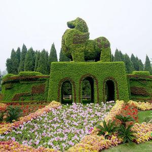 Гигантский открытый большой сад искусственные растения Трава животных скульптура