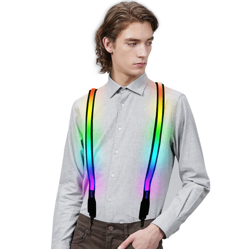 2019 factory supply wedding/party led suspenders with long last strong battery