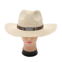 Western Party Costume Accessory Fancy Men Straw Cowboy Hat Costume Accessory