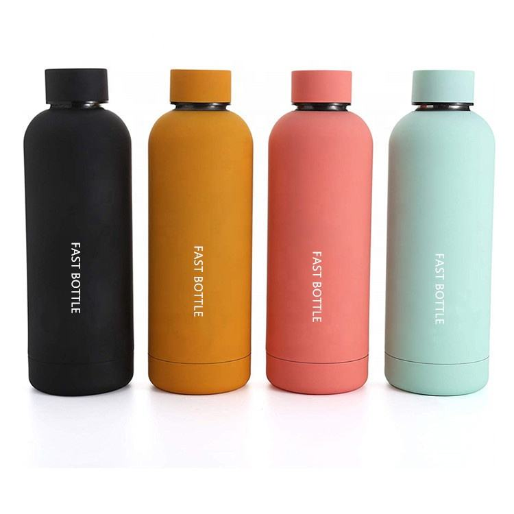 Small/Narrow Mouth BPA Free Custom Logo Thermal Drink Bottle Double Wall Vacuum Insulated Stainless Steel Hot Water Bottle