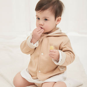 Amazon hot sale 100% organic cotton baby reversible winter coat jacket