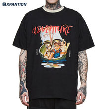 High Quality Custom 100% Cotton Mens Funny Comics t shirt Streetwear Short Sleeve Graphic Personalised t shirt