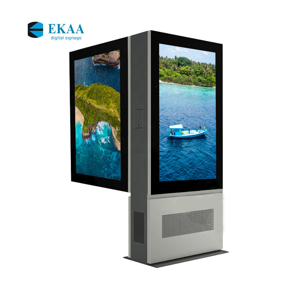 Ekaa Digital Signage 55 Pollici Outdoor Double Sided Lcd Poster Pubblicità Display