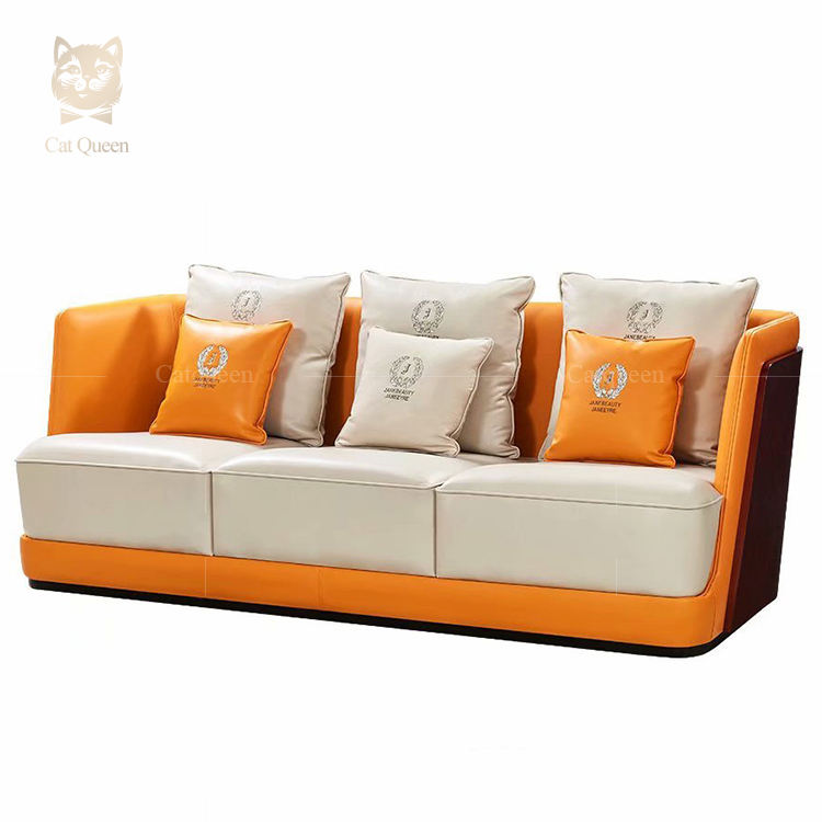 Custom Luxury Leather Modern Designs Funiture Sofa Home Modern Designs Hotel 5 Seater Leather Sofa