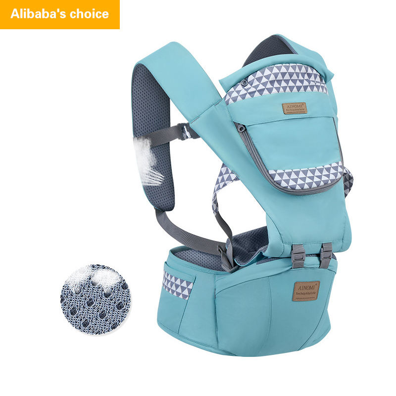 2021 Advanced Multi-function 6-in-1 Hip Seat Ring Sling Ergonomic Infant Wrap Baby Carrier//