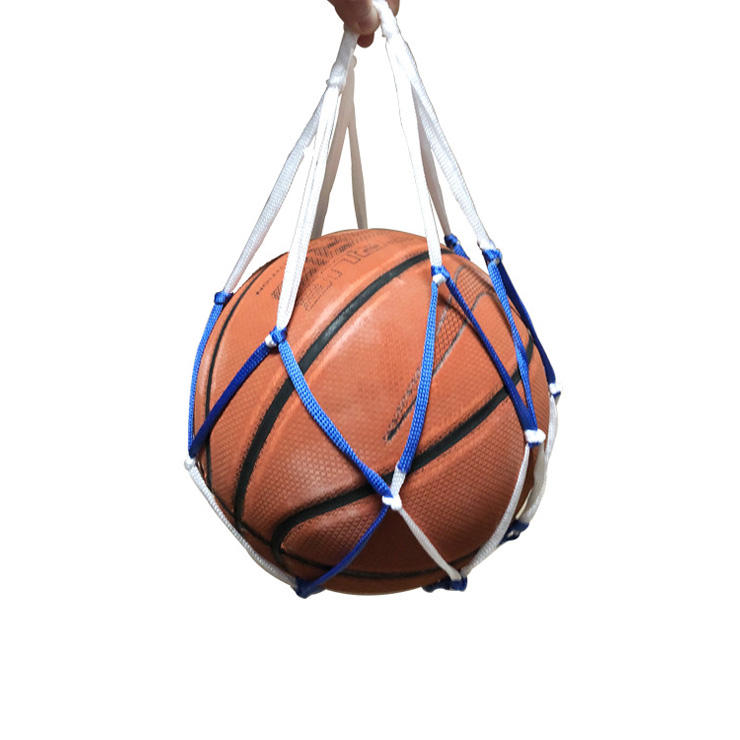 Hollow Portable Nylon Mesh Ball Pockets Volleyball Basketball Football Soccer Net Carry Bag