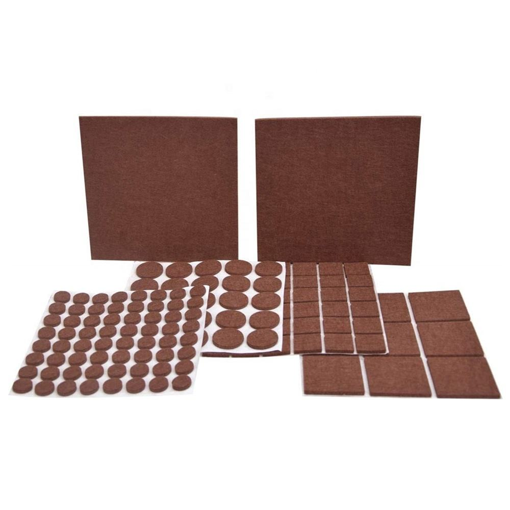 136 Pieces Non Slip Felt Furniture Pads Self Adhesive Felt Pads for Furniture Feet to Protect Your Hardwood Floor