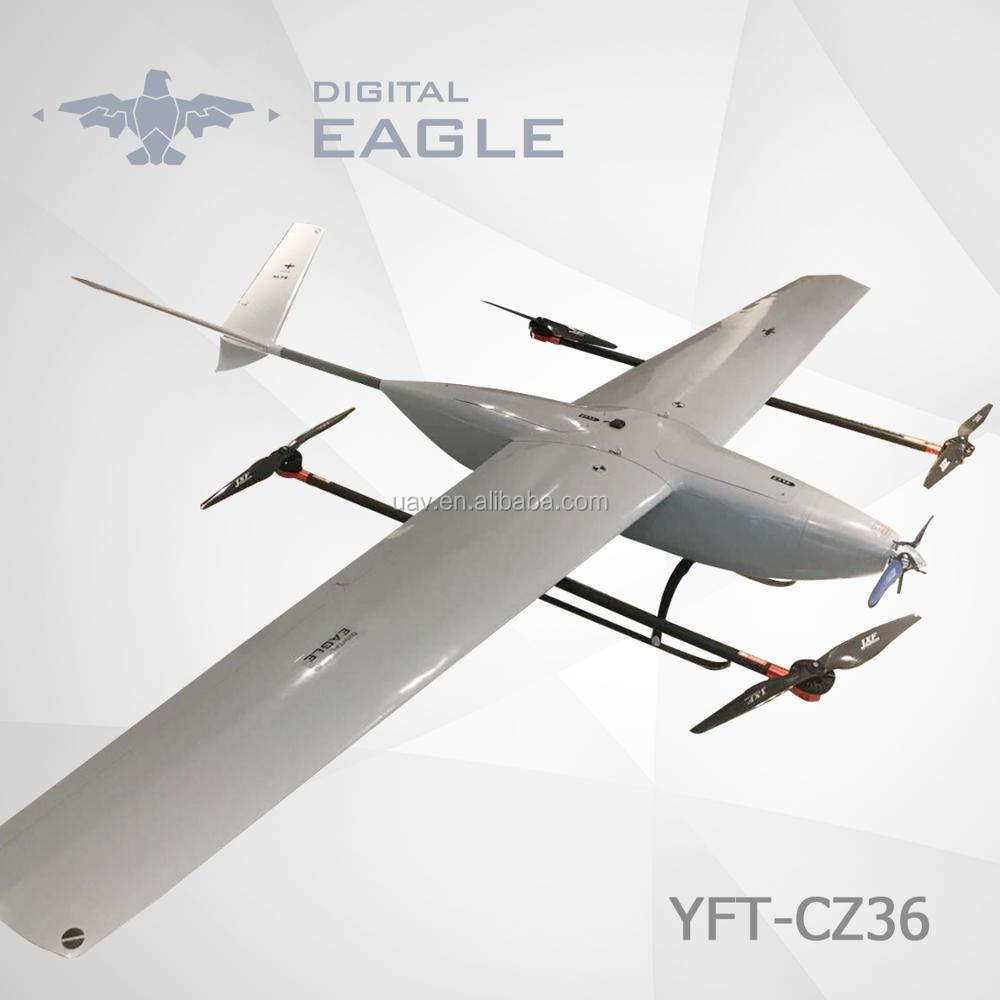 Militaire Drone Fixed-Wing VTOL UAV voor Survey Inspectie Mapping Rescue Security YFT-CZ36