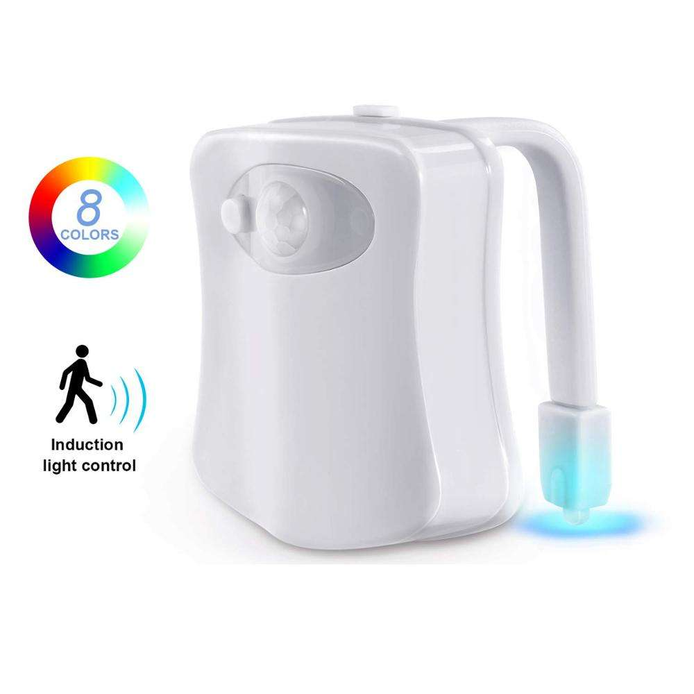 Toilet Night Light Motion Sensor LED Night LightsTwo Modes with 8 Colors Changing Toilet Bowl Night Light for Bathroom Washroom