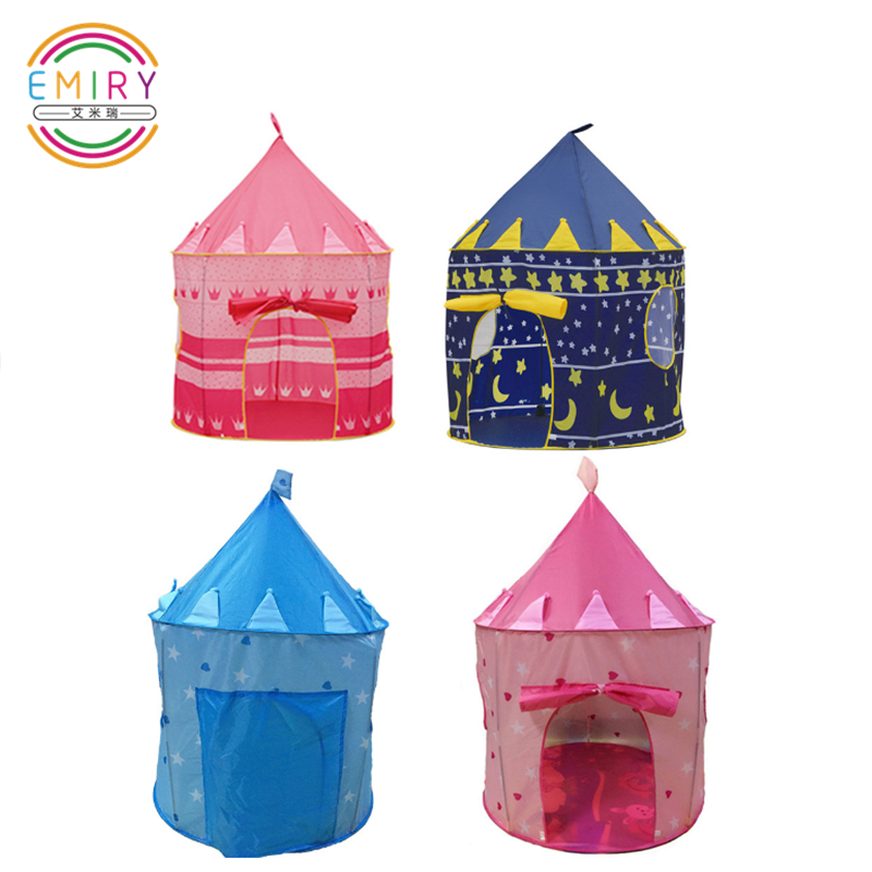 Prince Princess Easy Folding Up Child Indoor Pop Up Castle Tipi Play Tent House Teepee Kids Tent