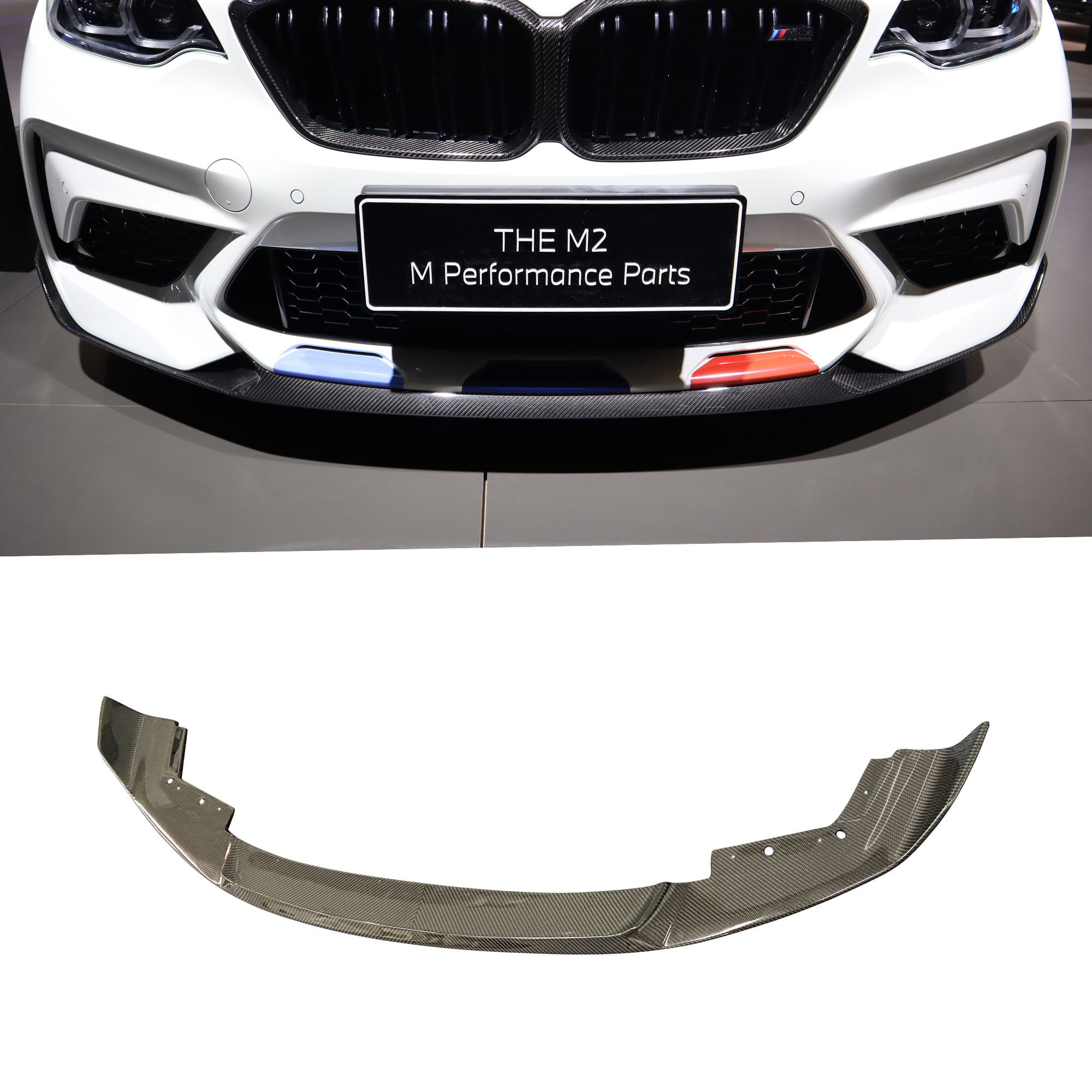MP style high quality carbon fiber front lip for M2C