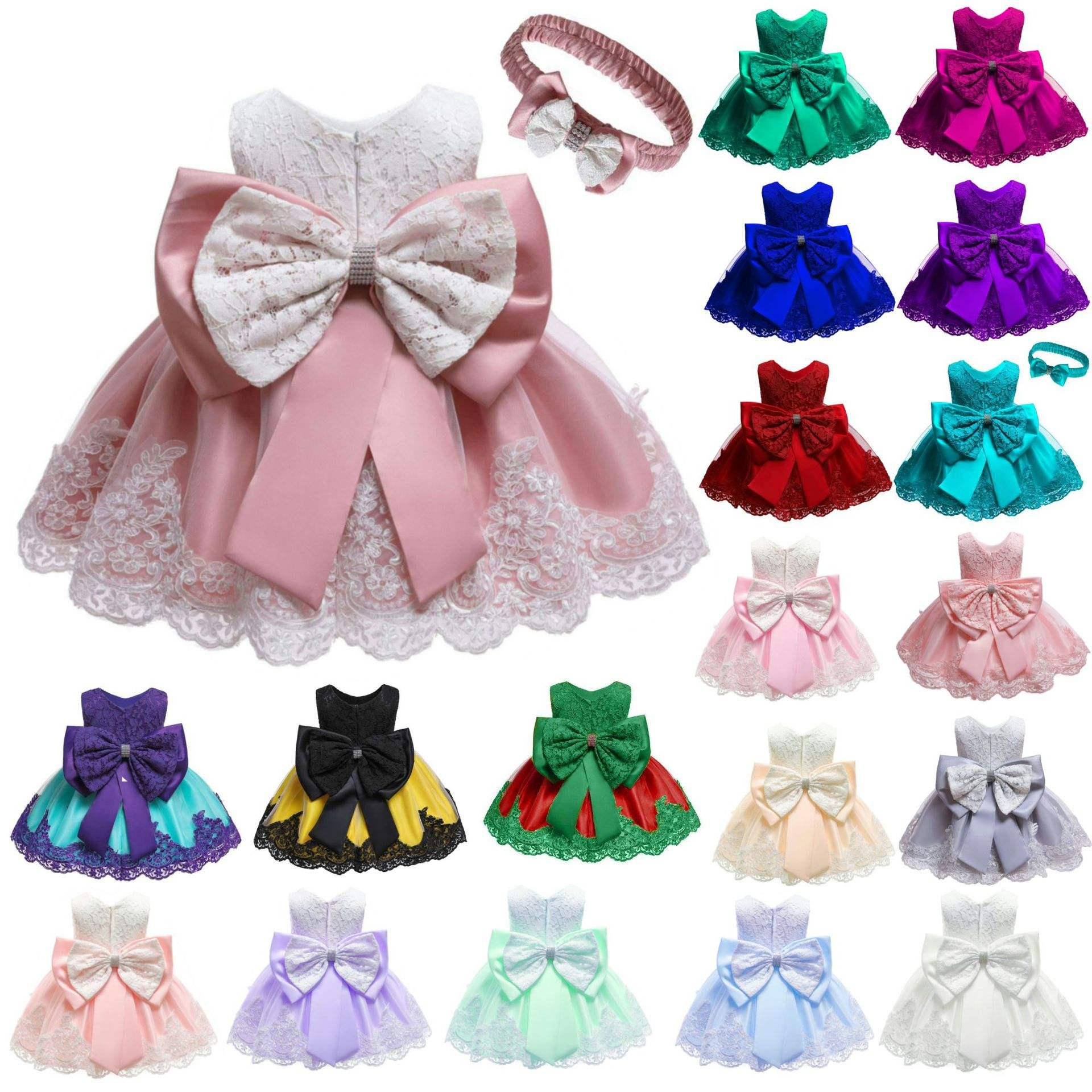 2019 lace 3years Princess flower evening children clothes new design baby party girls dress