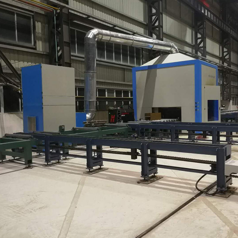 H Beam CNC Cutting Robot Plasma and Flame H Beam Cutting Machine for Steel Structure