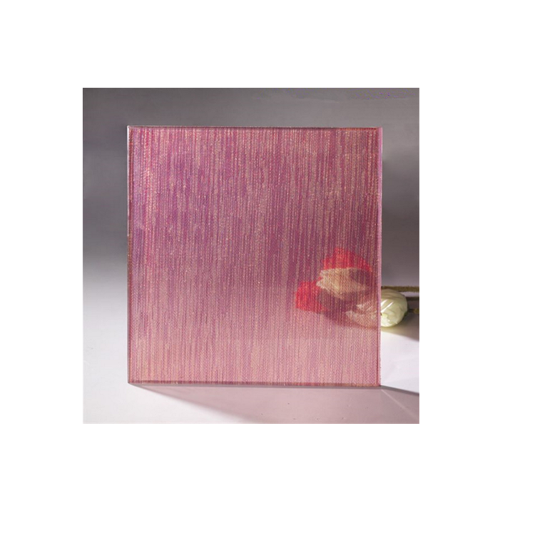 Beautiful clip spun silk glass,decorative colored laminated art glass