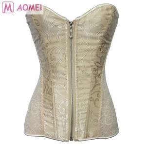 SO908021 neueste mode braut joe brust strahl taille palace jacquard zipper gothic kleidung korsetts und bustiers