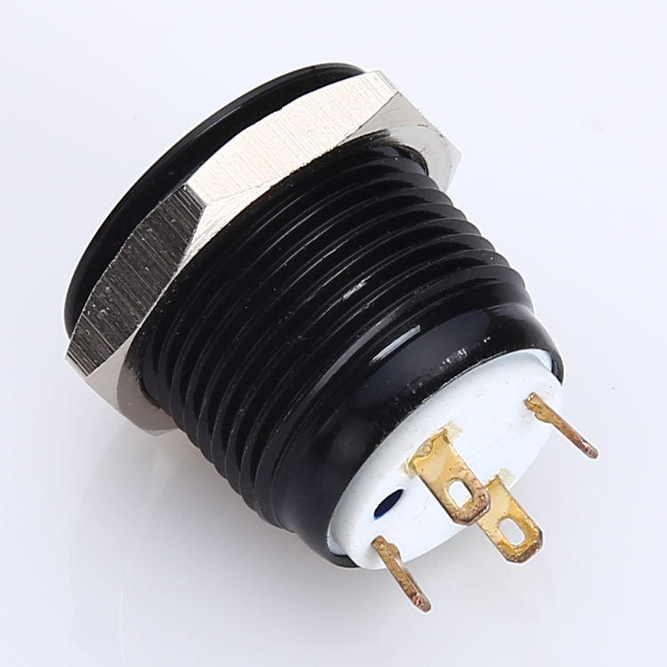 Sejak Tahun 1988 Onpow CE, RoHS 16 Mm Warna Hitam Illuminated Push Button Switch