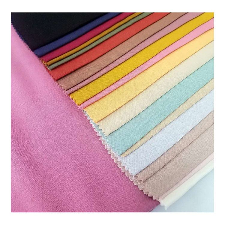 Best selling viscose/rayon dyed plain fabric 100% rayon fabric solid color