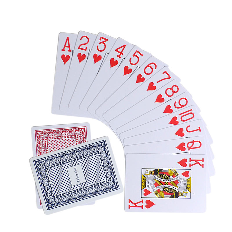 Poker custom wholesale plastic playing card china poker cards 10 decks in a set