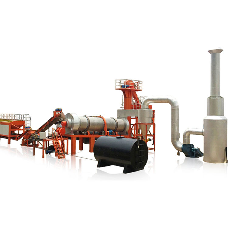 China CAP80 Mobiele 80 Tph Continue Drum Asfalt Mix Plant