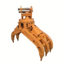 Hot selling high quality mini excavator hydraulic rotating grapple clamshell grab bucket for crane to discharge bulk