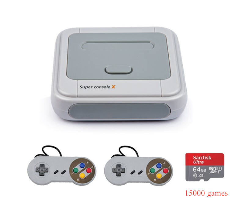SUPER CONSOLE X 2.4G Wireless Game Console Support AV HD Wifi 4K Retro Game Player Classic PS1 N64 30000 Games TV Console Box