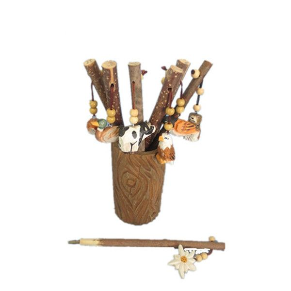 natural wood animal pen handmade gifts Decorative Wood Ballpoint Promotional Gift Fancy Wood Animal Pen