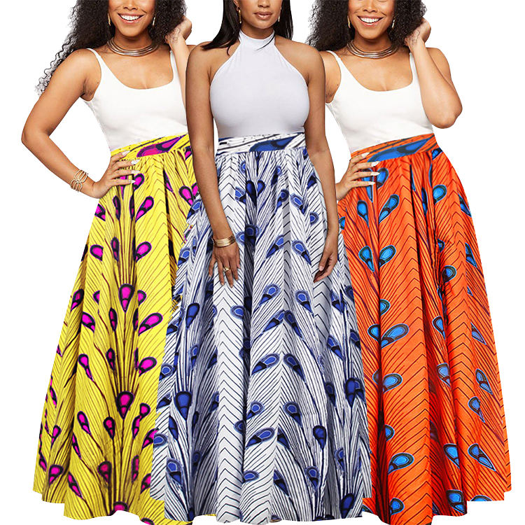 African Skirts For Women Fashion Dashiki Skirts African Print Women Skirts Femme Kanga Clothing Ankara Dresses