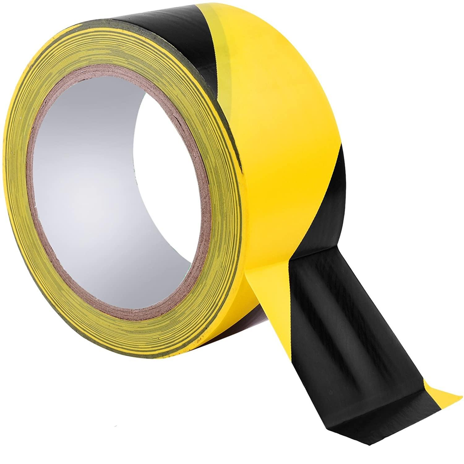 Yellow And Black PVC Hazard Warning Tape