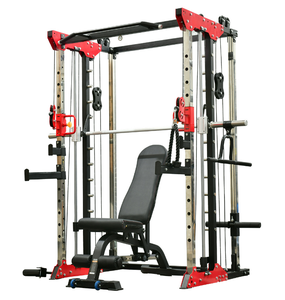 New Arrival SCR Fitness Gym Equipment Machines 3 in 1 Combo Power Rack with Smith Machine Function