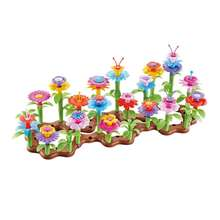 104 pcs Build A Bouquet Floral Arrangement Play Set Flower Garden Toys For Children Education