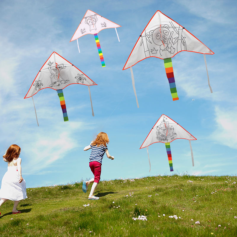 Wholesale Education toys easying flying chinese blank diy kite for sale from weifang shandong china