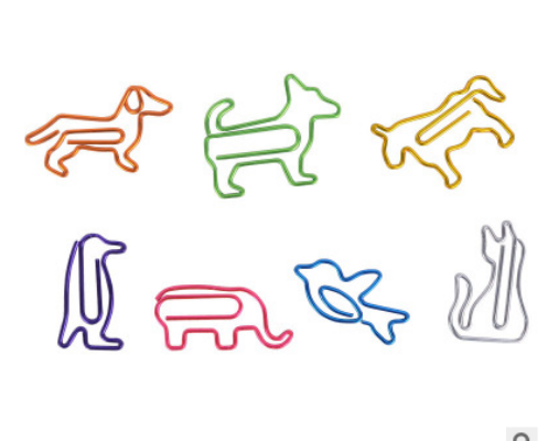 Wholesale colorful animal paper clips creative environmentally friendly paperclips