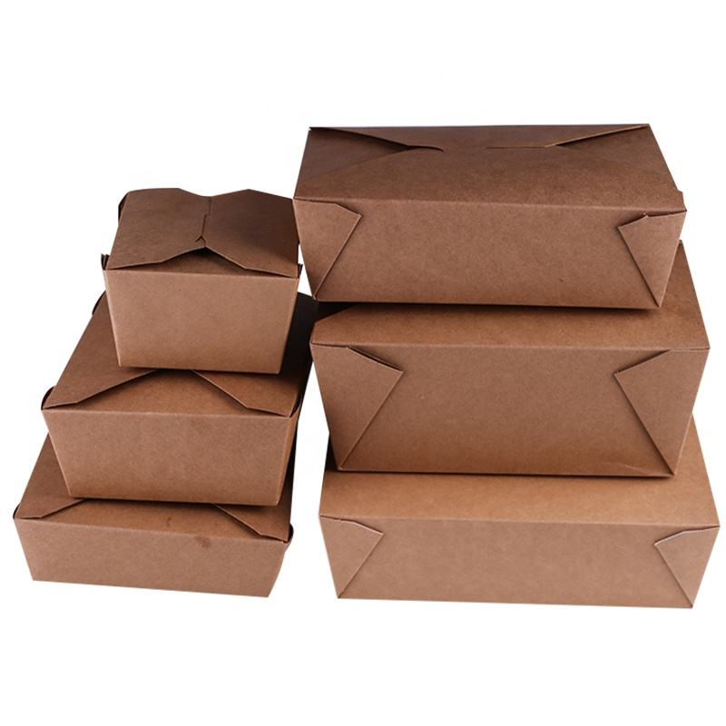 Custom Logo Printed Paper Wraps Disposable Food Packaging Boxes