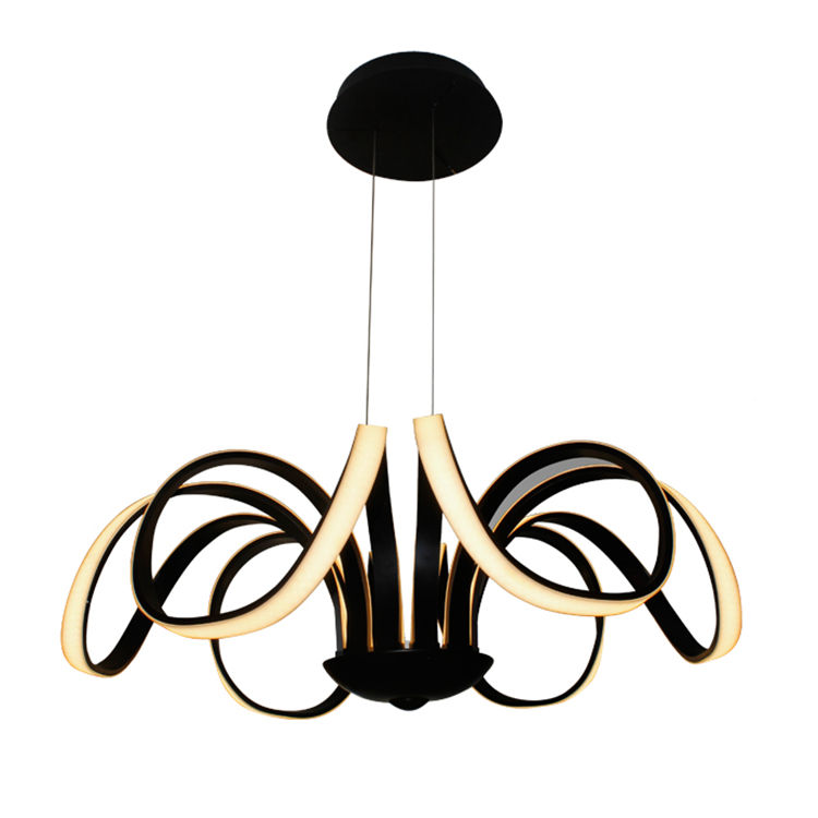 High Quality Decorative Acrylic Ceiling Pendant Light Modern Brown LED Chandelier