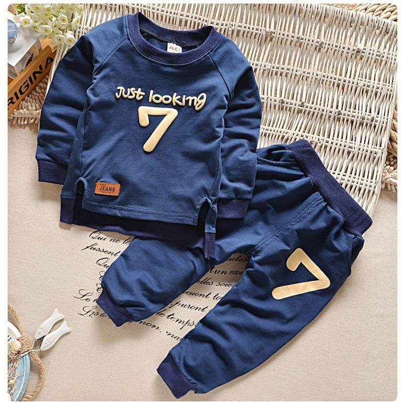 2019 fashion casual autumn number pattern long sleeve 2-5 year baby toddler clothing kids boys clothes