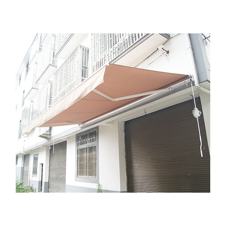 Large back door slide out electric metal roof retractable awning outdoor